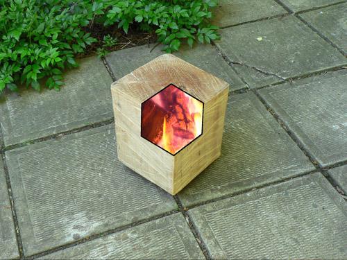 Cube feu intérieur